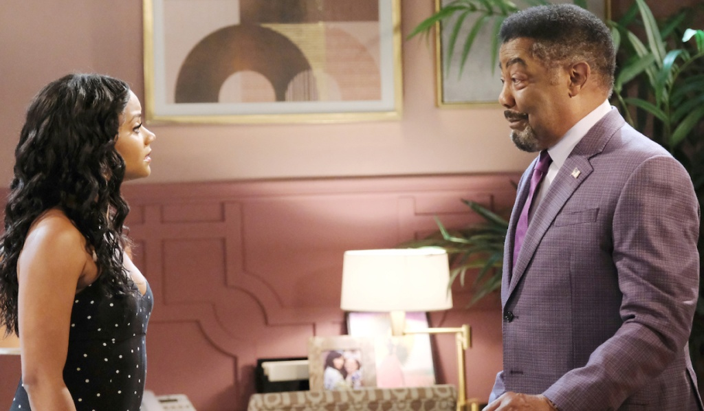 Chanel faces Abe in Paulina's apartment on Days of Our Lives