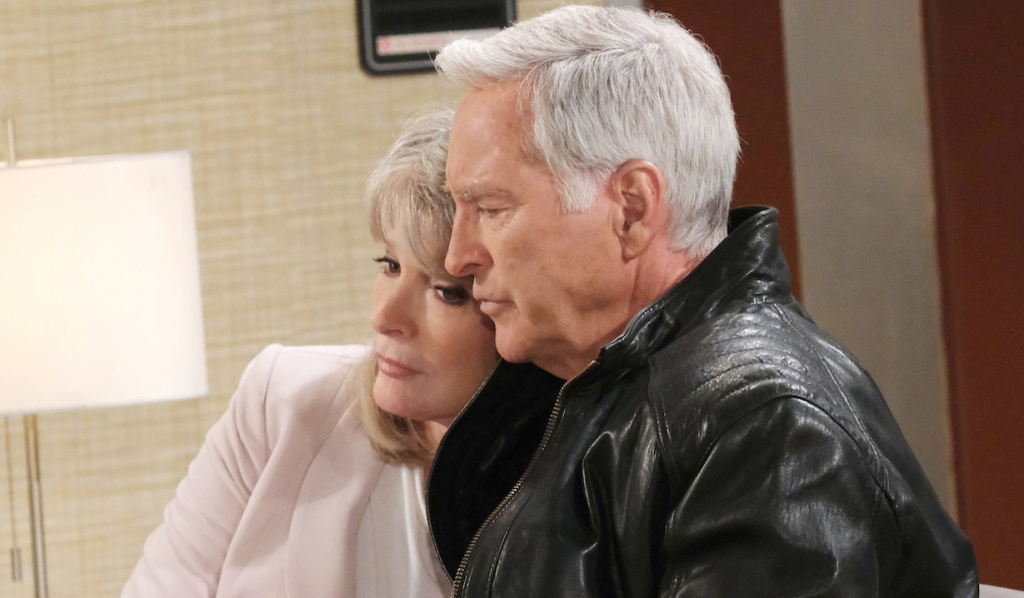 John holds Marlena on Days of Our Lives