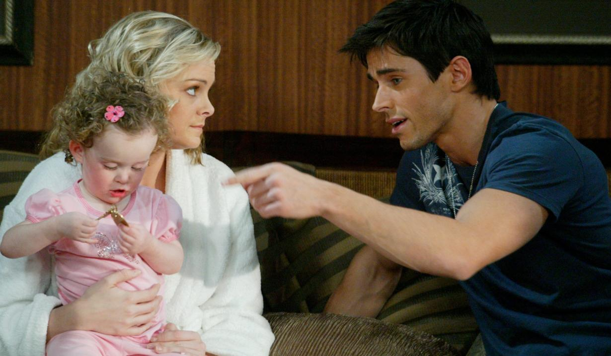 Shawn, Belle and Claire on Days of our Lives