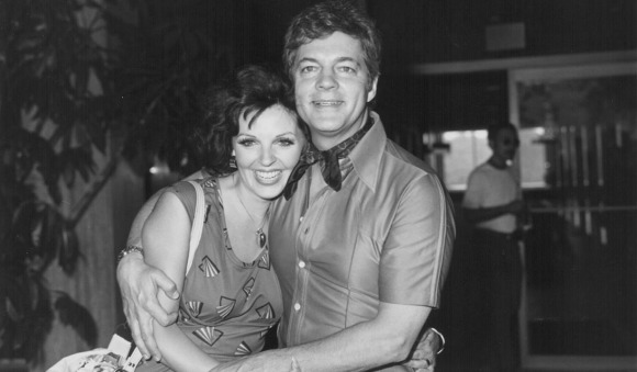 Actors and spouses, Bill Hayes and Susan Seaforth, attending an NBC Television luncheon, Los Angeles, July 1976. (Photo by Frank Edwards/Archive Photos/Getty Images)