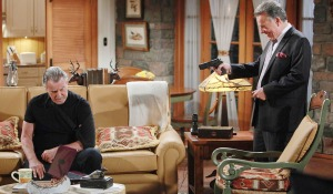 """Ray Wise, Eric Braeden """"The Young and the Restless"""" Set CBS television City Los Angeles 06/01/16 © Howard Wise/jpistudios.com 310-657-9661 Episode # 10959 U.S. Airdate 07/06/16"""