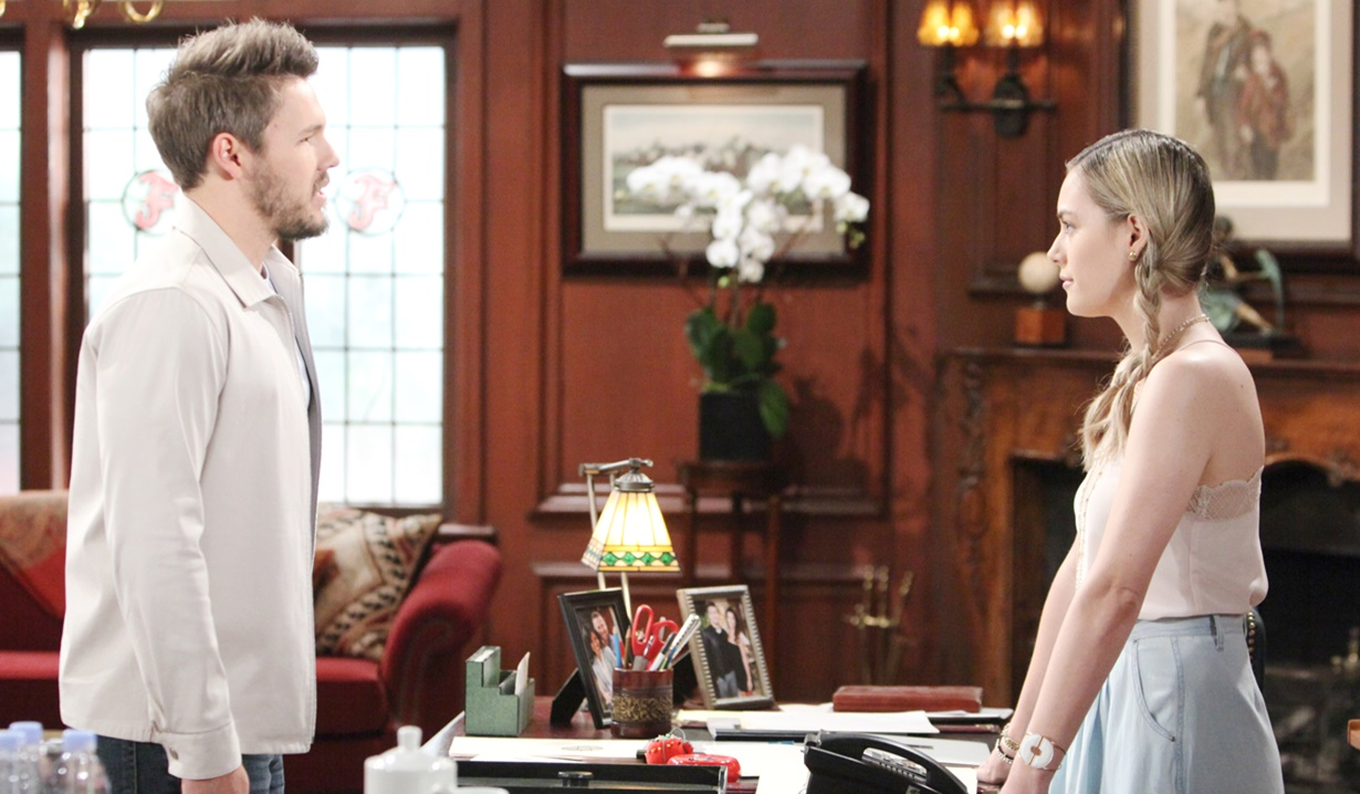 hope and Liam discuss Steffy not being ready for marriage
