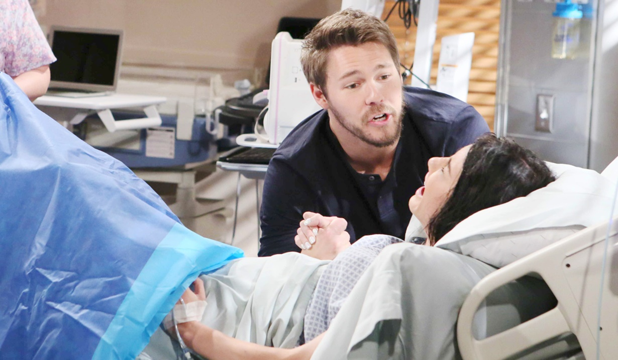 steffy in labor bold and beautiful