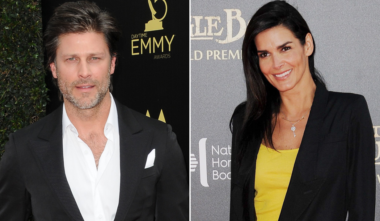Greg Vaughan and Angie Harmon engaged