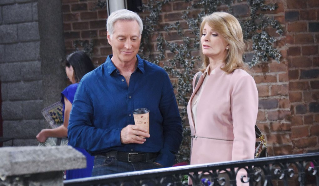 john and marlena talk in the park